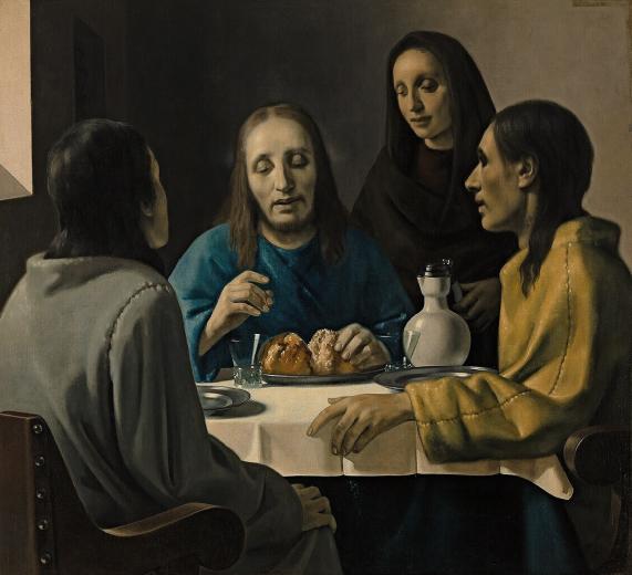Han van Meegeren. Ceia em Emaús, 1937. Óleo sobre tela, 130,5 x 118 cm. Museu Boijmans van Beuningen, Rotterdam.