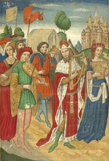 Falsificador Espanhol. A Arca da Aliança, c. 1900. Pintura sobre pergaminho, 20,5 x 14,5 cm. Victoria & Albert Museum, Londres.